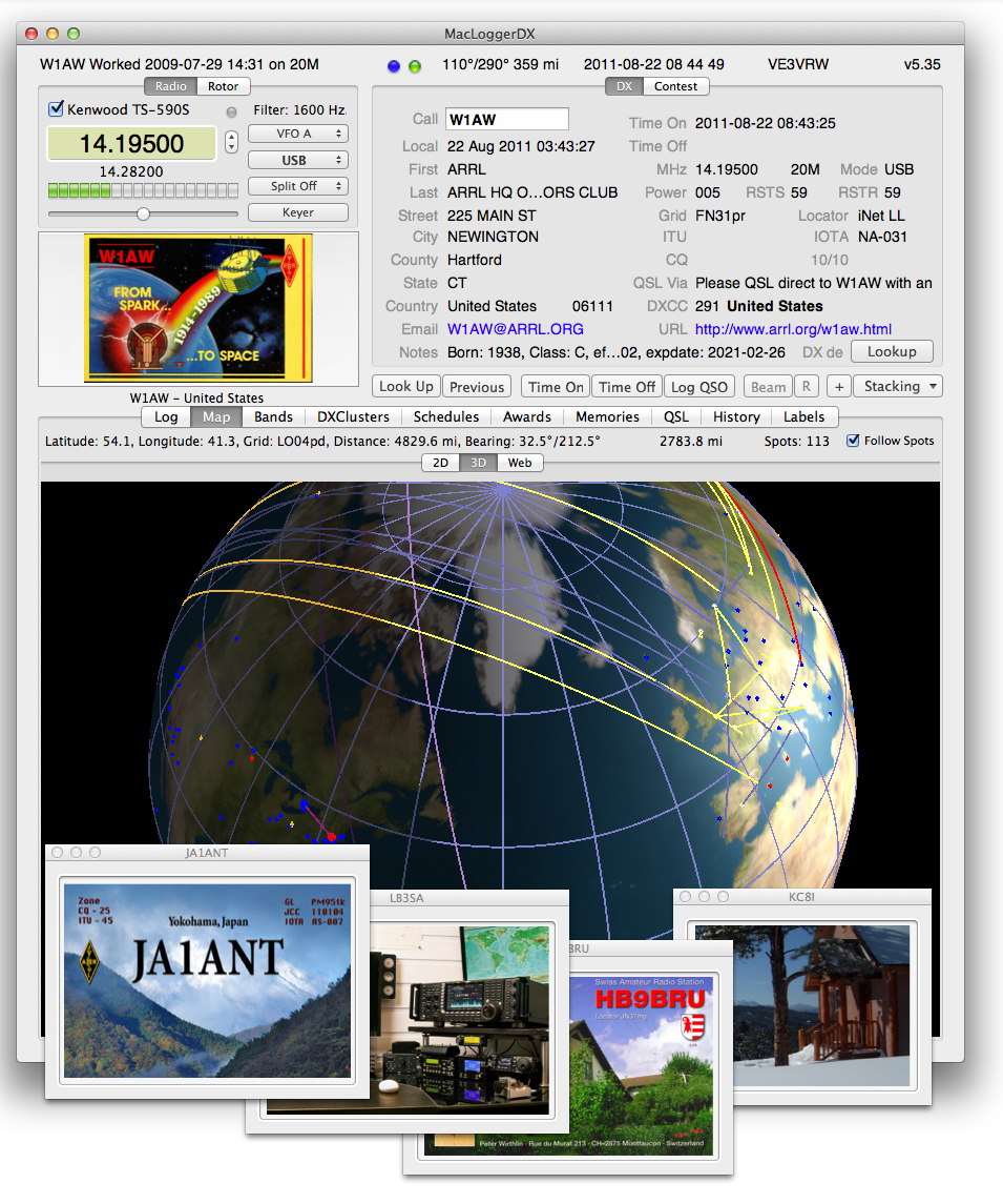 MacLoggerDX Ham Radio Logging Software for Macintosh