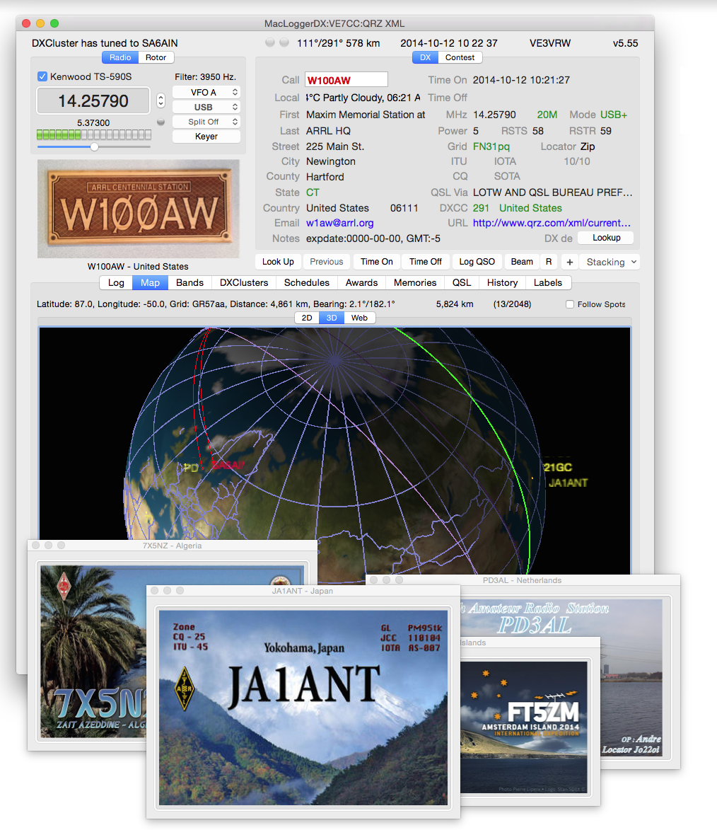 MacLoggerDX for Mac OS X full screenshot